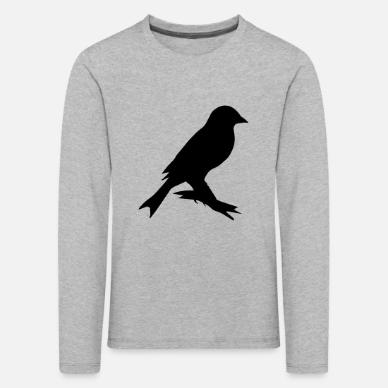 Pet Long sleeve shirts - canary bird uk - Kids' Premium Longsleeve Shirt heather grey