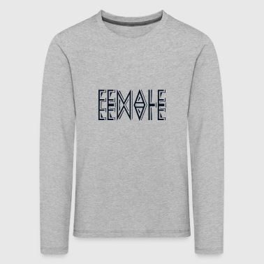 female - Kids' Premium Longsleeve Shirt