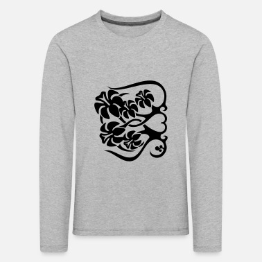 Long Underwear Flower Fence - Kids' Premium Longsleeve Shirt