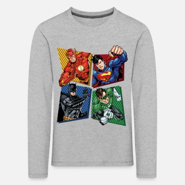 Superhelden DC Comics Justice League Superhelden - Kinder Premium Langarmshirt