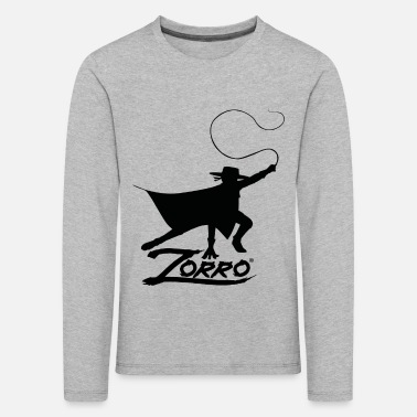 Zorro The Chronicles Silhouette With Whip - Kids' Premium Longsleeve Shirt