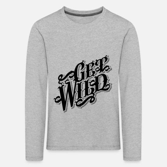 Birthday Long sleeve shirts - Get Wild Snatch Cowboy Western Gift Idea - Kids' Premium Longsleeve Shirt heather grey
