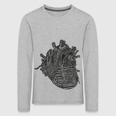 Hjerte Organ | Design Heart Shirt - Premium langermet T-skjorte for barn
