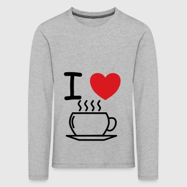 I love coffee idea as a gift - Kids' Premium Longsleeve Shirt