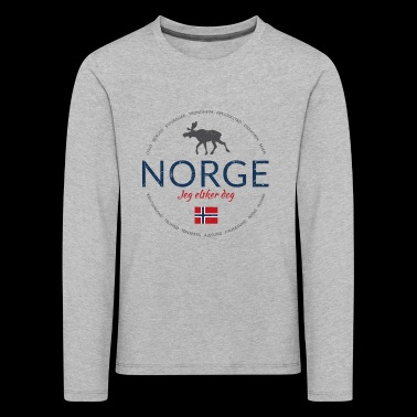 Norway button (Norway - I love you) - Kids' Premium Longsleeve Shirt