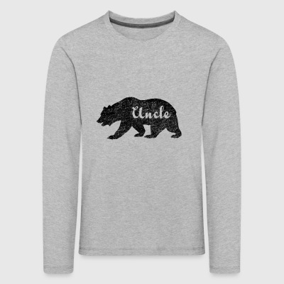 Uncle Bear Gifts idea for uncles. Camping Wildlife - Kids' Premium Longsleeve Shirt