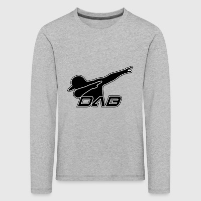 DAB black outline - Kinder Premium Langarmshirt