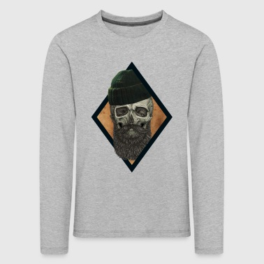 beard skull fisherman - Kids' Premium Longsleeve Shirt