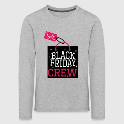 Black Friday Crew.Love Shopping.Sale.Shopping Girl - Kids' Premium Longsleeve Shirt