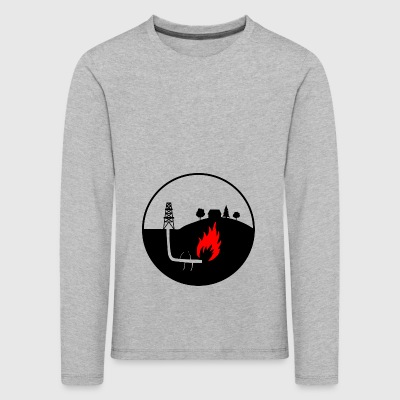 Oil production - Kids' Premium Longsleeve Shirt