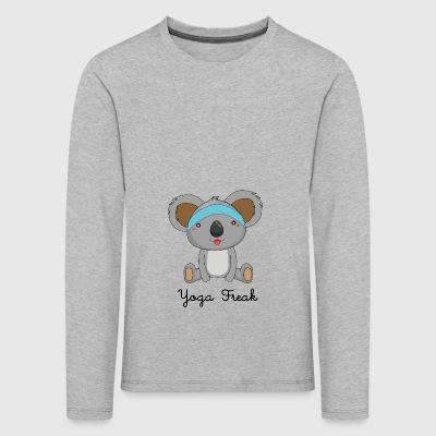 Yoga Freak, funny yoga shirt with koala - Kids' Premium Longsleeve Shirt