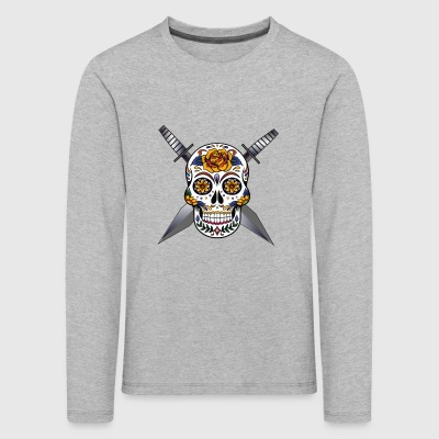 Cross skull swords - Kids' Premium Longsleeve Shirt