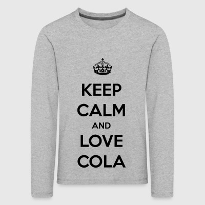 Cola. The feeling of an icy cold cola / gift - Kids' Premium Longsleeve Shirt