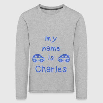 CHARLES MY NAME IS - T-shirt manches longues Premium Enfant