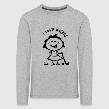 Hockey girlie - Kids' Premium Longsleeve Shirt