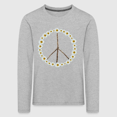 Peace sign made of flowers - Kids' Premium Longsleeve Shirt