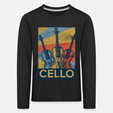 Cello Cello Violin Violin Cello Musikinstrument Musiker - Långärmad premium-T-shirt barn