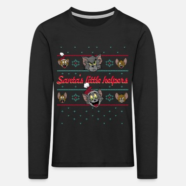 Tom und Jerry Ugly X-Mas Santa's little helpers - Kinder Premium Langarmshirt