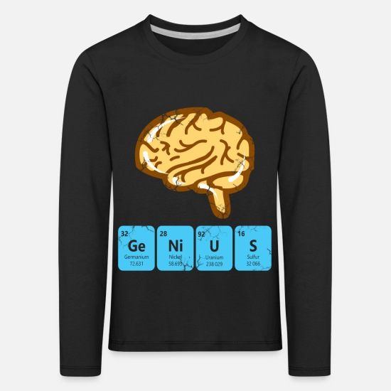 Periodic Long sleeve shirts - Genius periodic table - Kids' Premium Longsleeve Shirt black