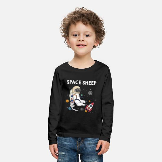 Spacesheep Langærmede shirts - Space Sheep Awesome Astronaut Galaxy Explorer - Premium langærmet T-shirt til børn sort