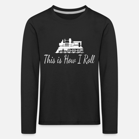Train Driver Long sleeve shirts - train - Kids' Premium Longsleeve Shirt black