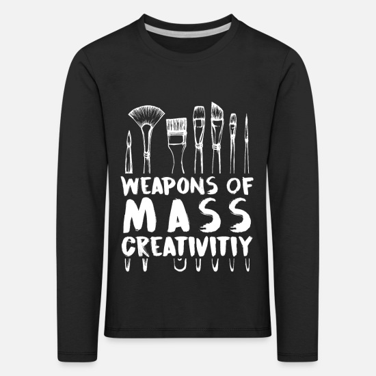 Graffiti Long sleeve shirts - Funny Art Supply Gifts Creative Gift Artist - Kids' Premium Longsleeve Shirt black