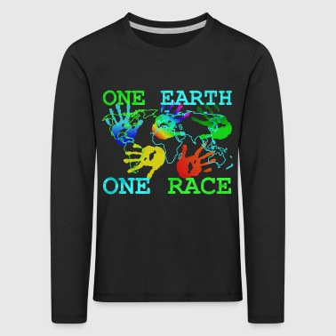 Camiseta Anti Racismo - One Earth One - Camiseta de manga larga premium niño