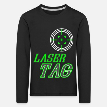 Tag Funny Laser Tag Party TShirt Mode On Laser tag - Kids' Premium Longsleeve Shirt
