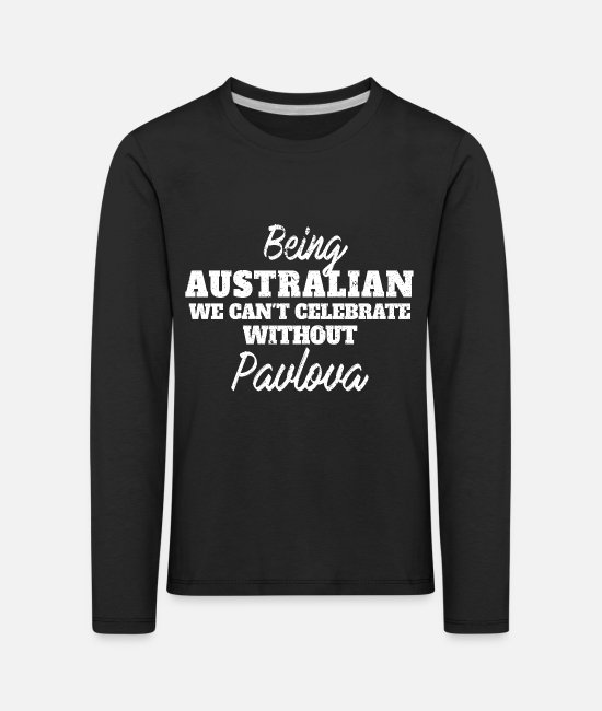 Celebrate Long-Sleeved Shirts - Being Australian we can't celebrate without - Kids' Premium Longsleeve Shirt black