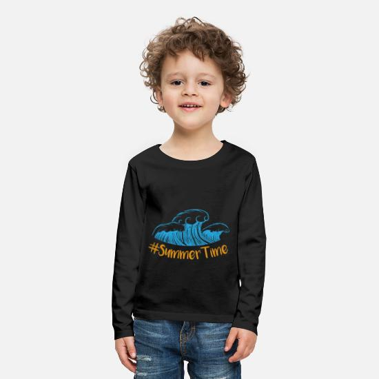 Wanderlust Long sleeve shirts - summer - Kids' Premium Longsleeve Shirt black