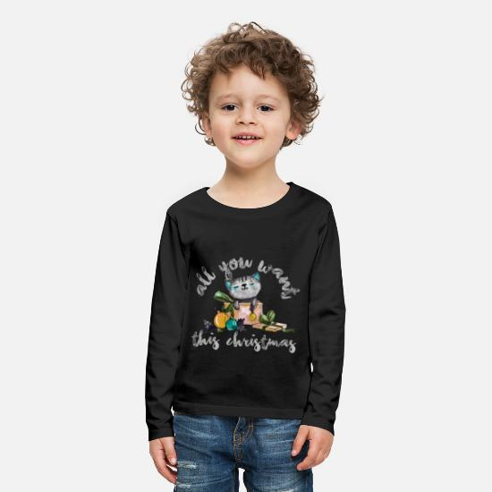 Pet Long sleeve shirts - Cat Christmas Maine Coon Persian Animal Gift - Kids' Premium Longsleeve Shirt black