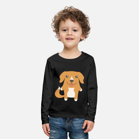 Dog Lover Long sleeve shirts - Toller Gift Idea - Kids' Premium Longsleeve Shirt black