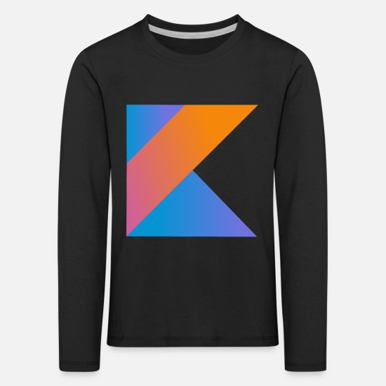 Program Long Sleeve Shirts - programmer nerd computer source new K sign pc c - Kids' Premium Longsleeve Shirt black