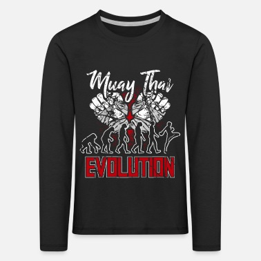 Muay Thai evolution - Kids' Premium Longsleeve Shirt