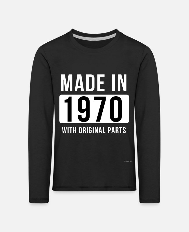 St Long-Sleeved Shirts - Made In 1970 - Kids' Premium Longsleeve Shirt black