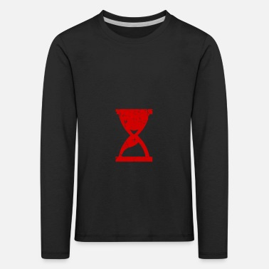 Hour Glass Hours of glass structures red gift - Kids' Premium Longsleeve Shirt