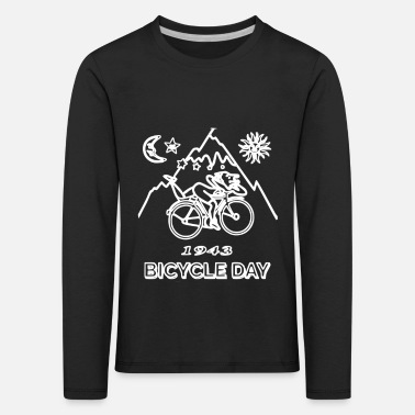 Albert Hofmann LSD Albert Hofmann Bicycle Day Acid - Kinderen premium longsleeve