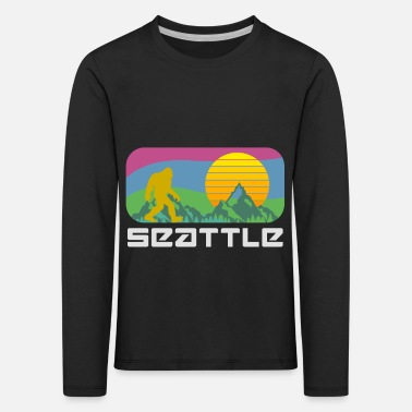 Big Bigfoot Seattle - T-shirt manches longues premium Enfant