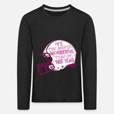 Winner Nice Time In The Year Football Helmet Protection Gift - Kids' Premium Longsleeve Shirt
