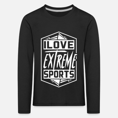 Sporty Sports extreme athletes extreme sports athlete adrenaline - Kids' Premium Longsleeve Shirt