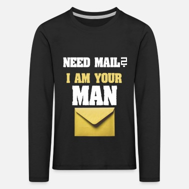 Composite Delivery Need mail? I am your MAN. Postman Yellow design - Kids' Premium Longsleeve Shirt