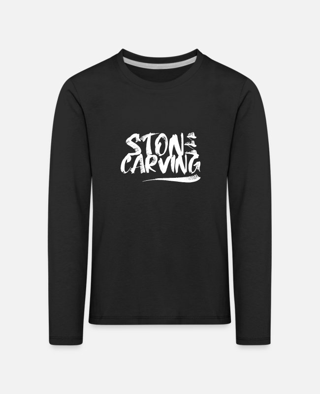 Occupation Long-Sleeved Shirts - stonemason - Kids' Premium Longsleeve Shirt black
