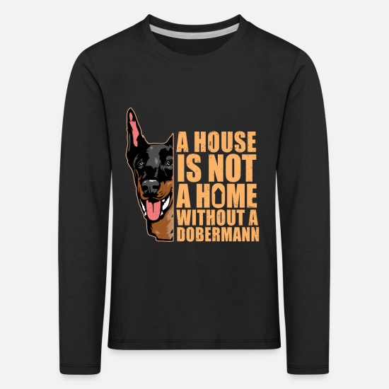 Dog Owner Long sleeve shirts - Doberman Pinscher American Kennel Pedigree Pet - Kids' Premium Longsleeve Shirt black