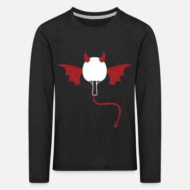 Trowel table tennis devil - Kids' Premium Longsleeve Shirt