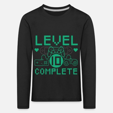Level 10 Complete 10th Birthday Children's Gaming - Kids' Premium Longsleeve Shirt