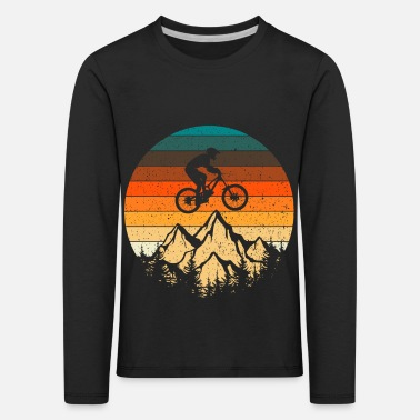 Tain Mountain bike downhill retro vintage gift - Kids' Premium Longsleeve Shirt