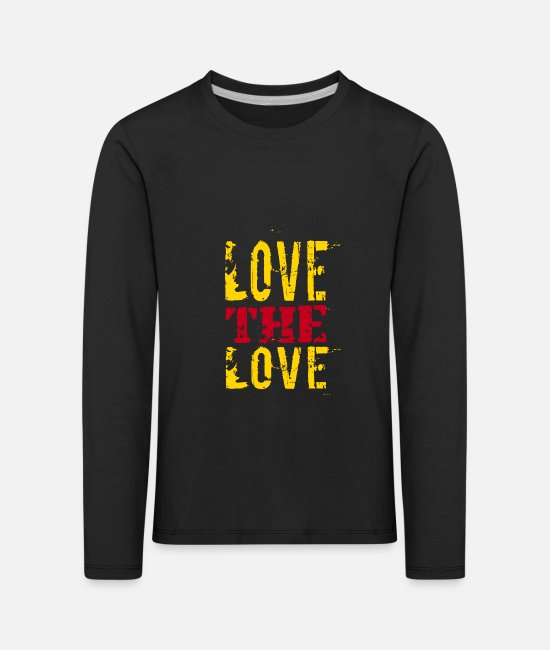 Heart Long-Sleeved Shirts - Love the love - Kids' Premium Longsleeve Shirt black