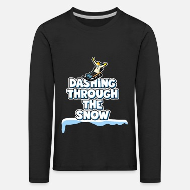 Rapidly through the snow - sledding - Kids' Premium Longsleeve Shirt
