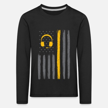 Tribute Thin yellow line american flag - dispatcher - Kids' Premium Longsleeve Shirt