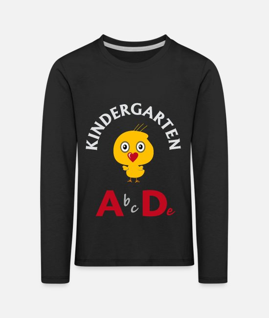 School Beginner Long sleeve shirts - Kindergarten A bcDe - Kids' Premium Longsleeve Shirt black